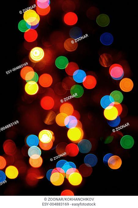 defocused olored circular lights