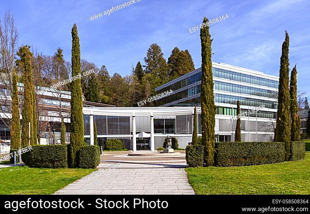 View of the famous Caracalla Therme in Baden-Baden. Baden Wuerttemberg, Germany, Europe