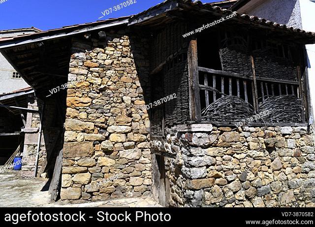 Soto de Agues, popular architecture. Redes Natural Park, Asturias, Spain