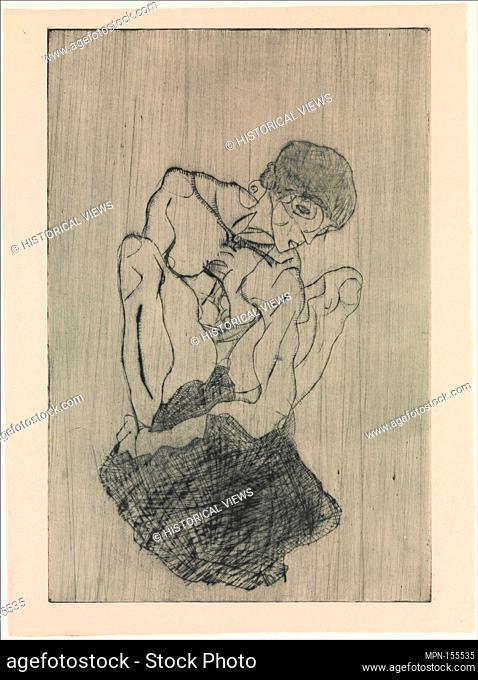Sorrow. Series/Portfolio: From the portfolio Das Graphische Werk von Egon Schiele 1922; Artist: Egon Schiele (Austrian, Tulln 1890-1918 Vienna); Date: 1914;...