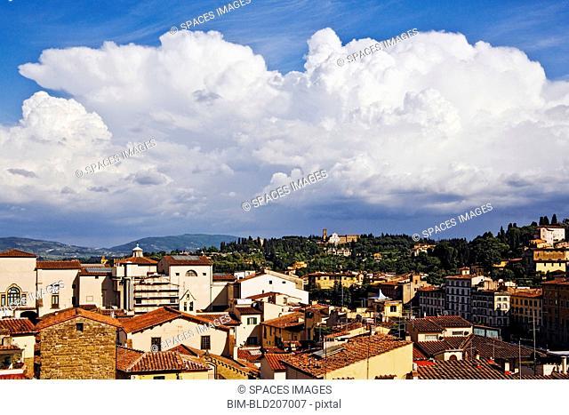Cumulus Clouds above Florence Skyline