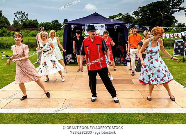 PJ's Dance Club Perform In The Rain At The Maresfield Fete, Maresfield, Sussex, UK