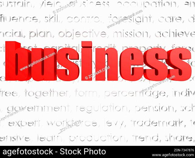 Business word cloud image with hi-res rendered artwork that could be used for any graphic design