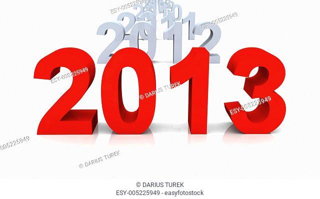 2013 Die Chronologie rot grau