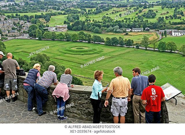 Terrace, garden, Stirling Castle, Scotland, UK