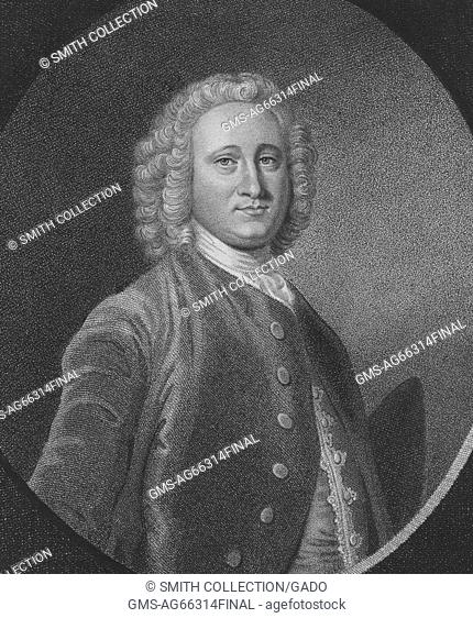 Engraved portrait of the Honorable Thomas Townshend, English politician who was the 1st Viscount Sidney, the city of Sydney, Australia, was named for him, 1799