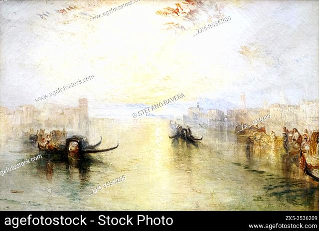 JMW Turner 1775 - 1851 . St Benedetto looking towards Fusina. exhibited 1842. Oil on canvas