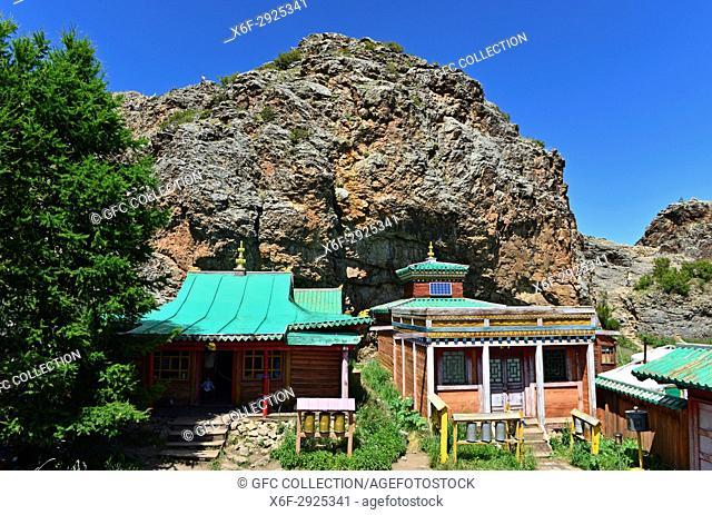 Tuvkhun Monastery, UNESCO world cultural heritage site, Khangai Nuruu National Park, Övörkhangai Province, Mongolia