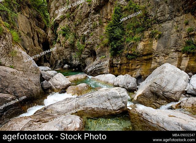 Canyon of Selca, River Cem, Kelmend region, Albanian Alps, Prokletije, Qark Shkodra, Albania