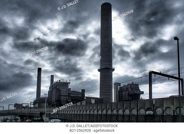 At Marchienne in the affected industrial area of the Sambre coal basin, Charleroi, Belgium