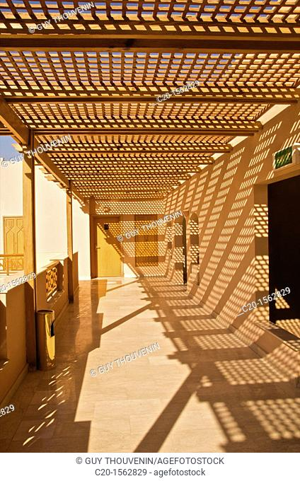 Terraces Claustras and outside corridors and sun shades of Intercontinental hotel hurgadah Egypt