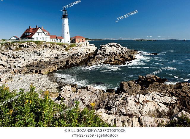 Portland Head Light - Fort Williams Park - Cape Elizabeth, Maine, USA