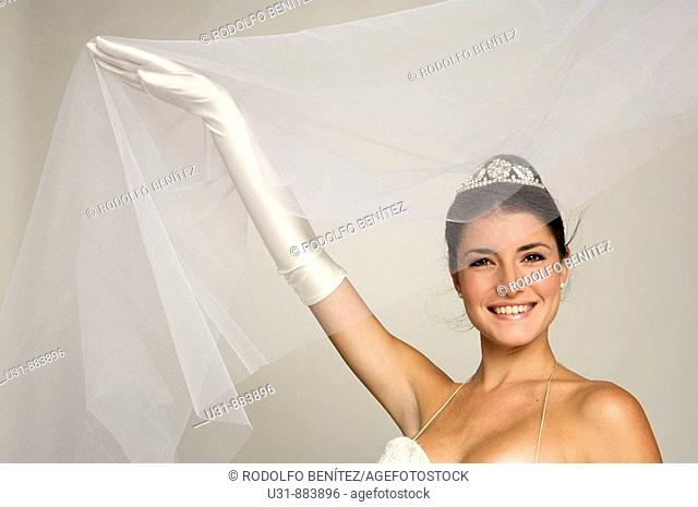 Bride in her 20s discovers herself from under her veil