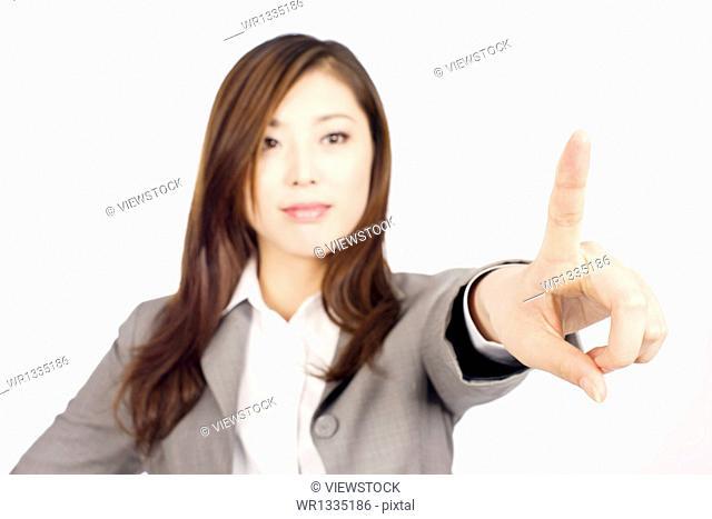 Business woman hand finger