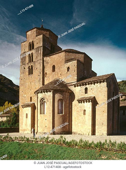Romanesque church, Santa Cruz de la Serós. Huesca province, Aragón, Spain