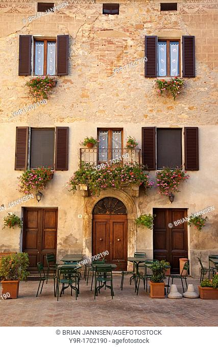 Beautiful home with an outdoor cafe on the lower level in Pienza Tuscany Italy