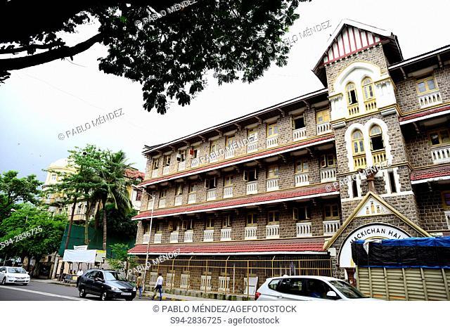 """Colonial house """"""""Mackichan Hall"""""""" of Mumbai (Bombay), Maharastra, India"""