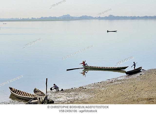 Lemro river near Mrauk U, Rakhine State, Myanmar