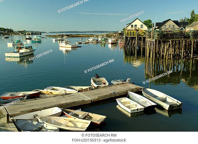 Bass Harbor, ME, Maine, Mt Desert Island, fishing harbor, dinghies