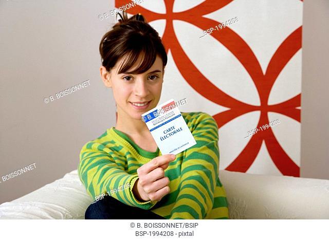 VOTER REGISTRATION CARD Model