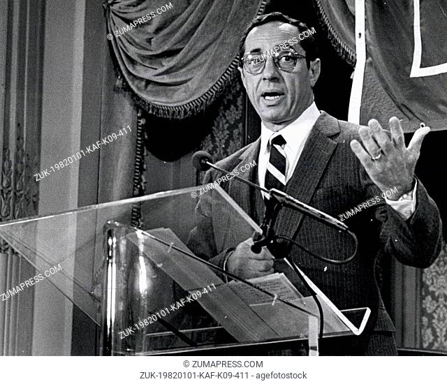 Jan 1, 1982 - New York, New York, U.S. - Candidate for Governor of New York Democratic Candidate, Mr. Mario Cuomo at a debate sponsored by the Daily News at the...