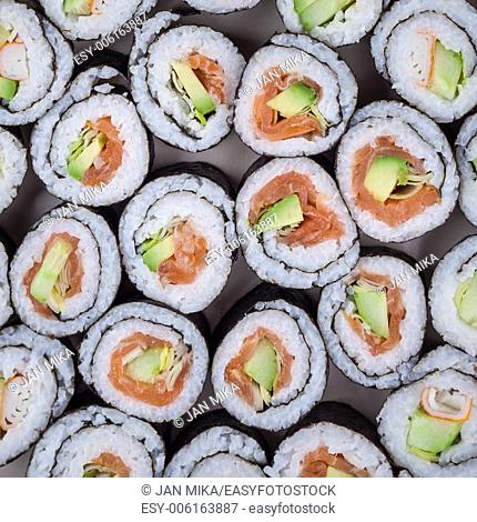 Detail of Sushi rolls