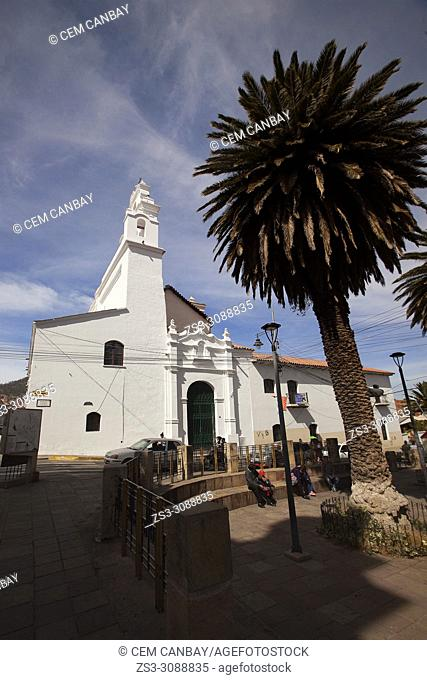 View to the Templo de la Merced at the historic center, Sucre, Chuquisaca Department, Bolivia, South America