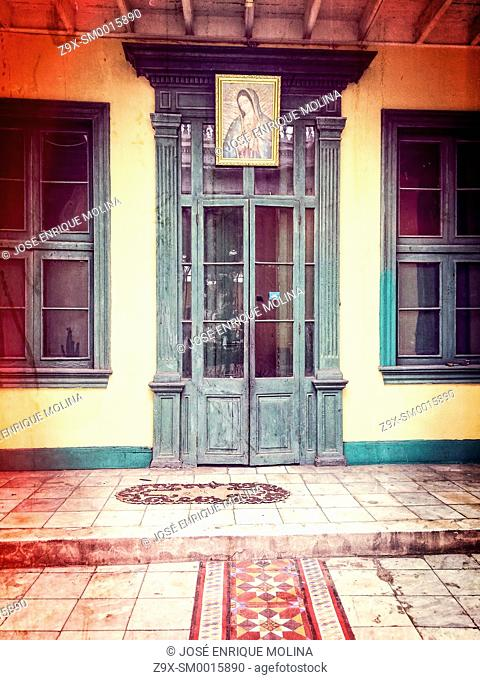 Old building in the Barranco district.Lima.Peru