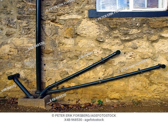 Outside plumbing Oxford England UK Europe