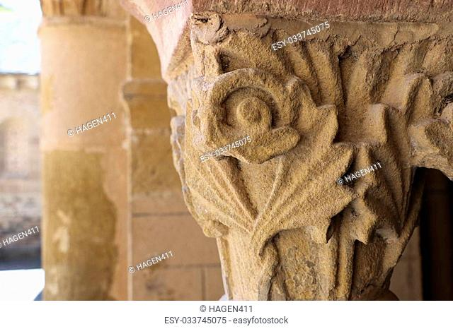 Details of the church of Conques, France