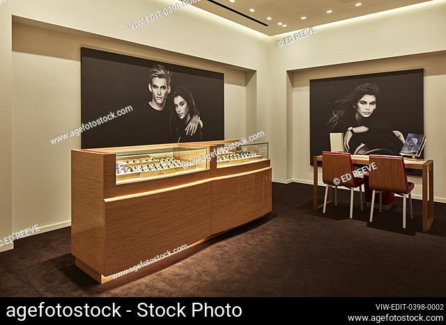 Display area. Bucherer Westfield, London, United Kingdom. Architect: DULA, 2018