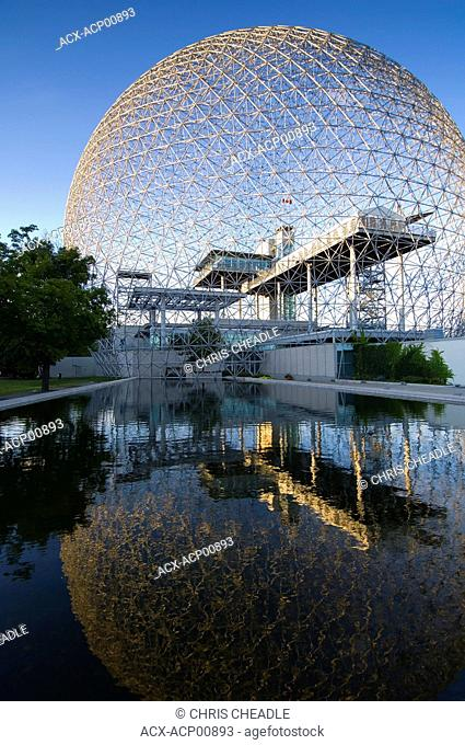 Montreal Biosphere, Quebec, a geodesic dome originally built as US pavillion at Expo 67, Montreal, Quebec, Canada