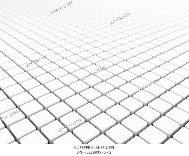 Blank white cubes background, illustration