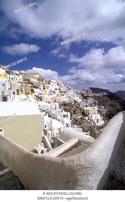 Oia's Village, Santorini, Cyclades, Greece, Europe