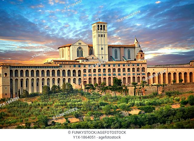Papal Basilica of St Francis of Assisi,  Basilica Papale di San Francesco  Assisi, Italy