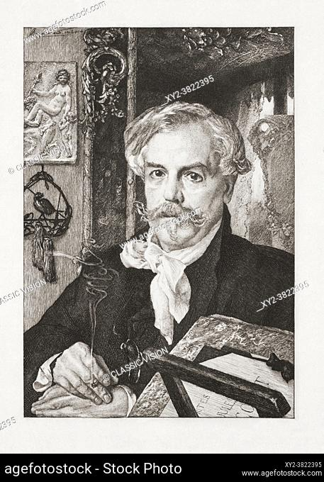 "Edmond de Goncourt, 1822 â. ""1896, born Edmond Louis Antoine Huot de Goncourt. French writer, literary critic, art critic"