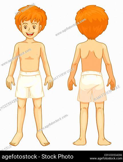 Boy body parts