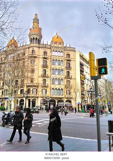 Cases Rocamora, Caspe Street, Passeig de Gracia, Barcelona, Catalonia, Spain