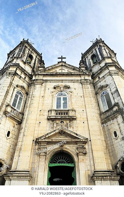 Brazil, Bahia, Salvador: Basílica de Nossa Senhora da Conceiçí£o da Praia from 1623 in the lower part of the historic city center of Salvador de Bahia