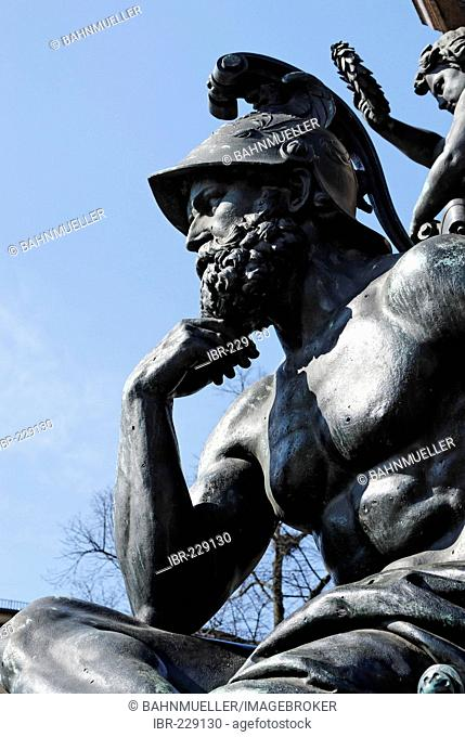Maxmonument for king Maximilian II allegory of the strenght Maximilianstreet Munich Muenchen Upper Bavaria Germany