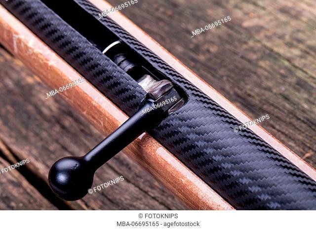 Airgun, clamping lever