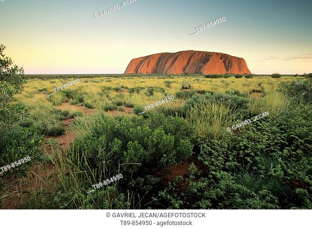 Ayers Rock, sandstone massif, sunrise