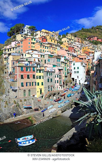 Riomaggiore on the Cinque Terre, Liguria, Italy