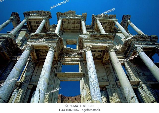 Turkey, Middle East, Ephesus, Ephesos, Celsus library, facade, ruins, antiquity, antique