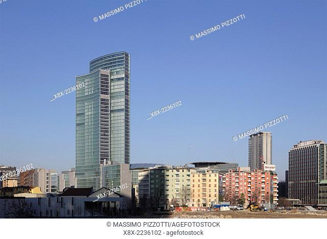 Modern architecture of Lombardy building, Milan, Italy
