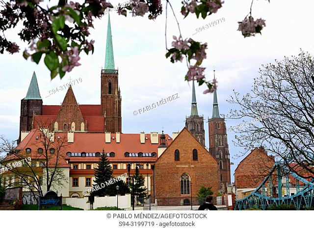 Church of Sainte Cross and Saint John Baptist in Wroclaw, Silesia, Poland