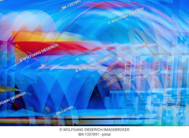 Color impressions, acrylic painting, artist Gerhard Kraus, Kriftel