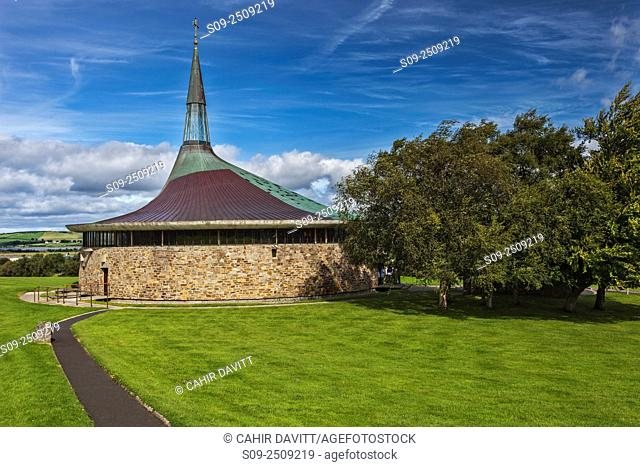 St. Aengusâ. . Church designed by the architect Liam McCormick in the late 1960's, Burt, Carrownamaddy, Speenoge, Co. Donegal, Ireland