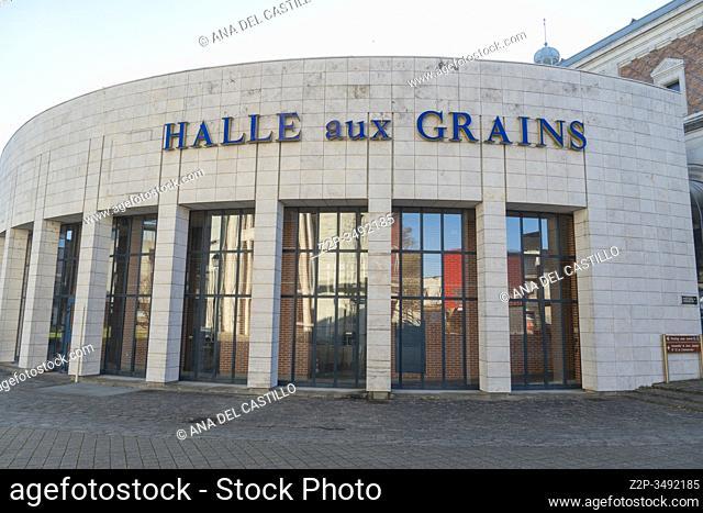 BLOIS LOIRE VALLEY FRANCE ON DECEMBER 30, 2019: Halle aux Grains the old market