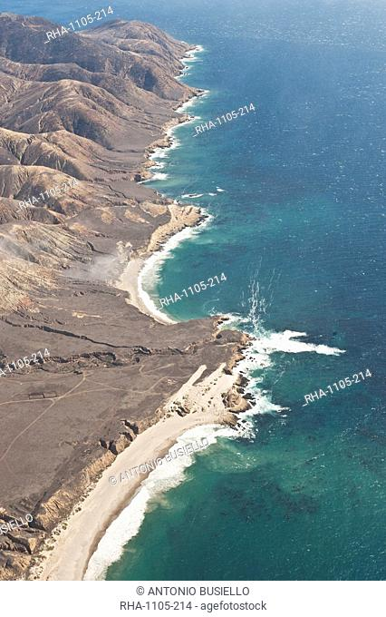 Aerial photo of Santa Rosa, Channel Islands National Park, California, United States of America, North America